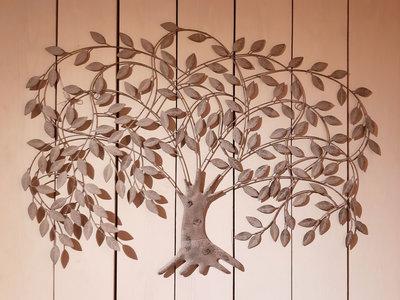 Metalen wanddecoratie Treurwilg