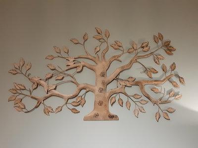Metalen wanddecoratie Olijfboom
