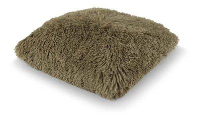 Kussen Fluffy olijf 45x45 cm