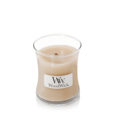 Woodwick kaars small White Honey