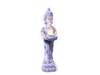 Boeddha van aardewerk (H54 cm)