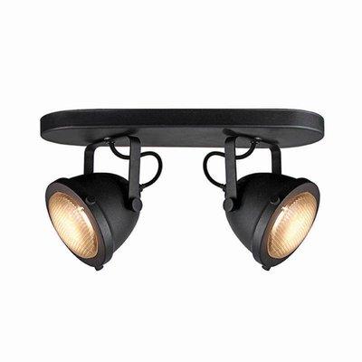Spot Moto - Zwart - Metaal - 2 Lichts
