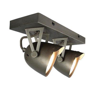 Spot Cap - Grijs - Metaal - 2 Lichts
