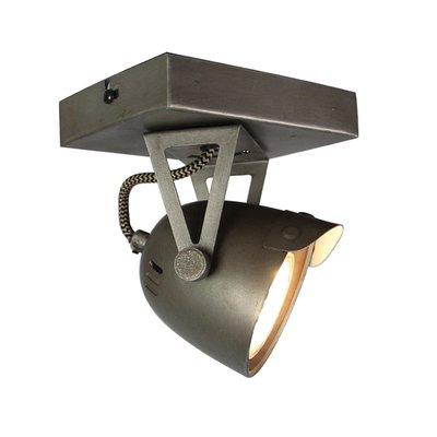Spot Cap - Grijs - Metaal - 1 Lichts