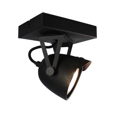 Spot Cap - Zwart - Metaal - 1 Lichts
