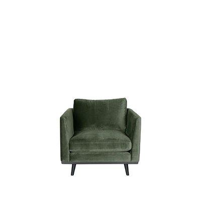 Bank Siena - Army green - Fluweel - 1-Zits