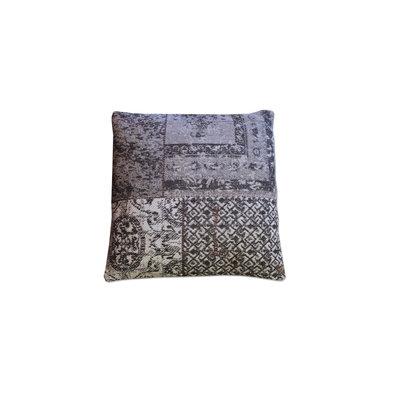 Kussen Patchwork grijs 50 x 50 cm