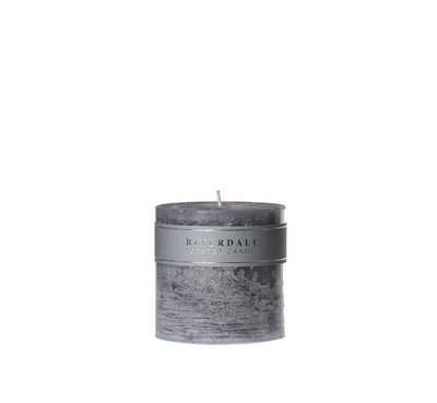 Riverdale kaars Pillar Cool Grey, 10x10 cm