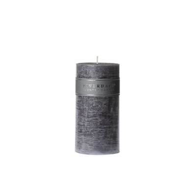 Riverdale candle Pillar Cool Grey, 7,5 x 15 cm