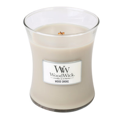WoodWick kaars medium Wood Smoke