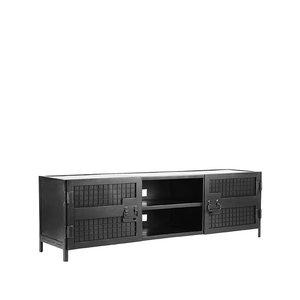 Tv-meubel Gate - Zwart - Metaal - 160 cm